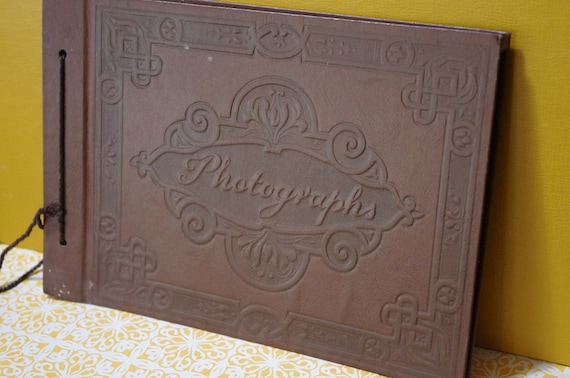 Vintage Brown Leather Photograph Album..Blank