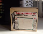 Newsworthy Frame Rubber Stamp by Posh Impressions