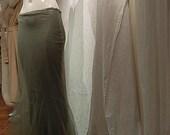 Morticia  Fish Tail  Hobble Skirt,Long Skirt,Wedding Skirt, Renaissance,Steam Punk,Inspired French designer Paul Poiret