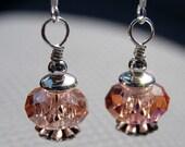 Pink Ice Swarvosky Crystal Earrings