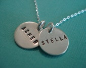 RESERVED FOR TRACY - Double Decker - Sterling Silver Keepsake Necklace