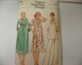 Vogue Maternity Sewing Pattern 7022 Dress and Pants