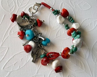 Southwest Bracelet with Charms