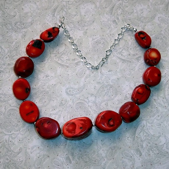 Bamboo Coral Necklace