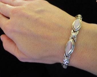Sterling Silver Pink Mother of Pearl Bracelet
