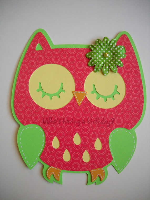 Owl Handmade Birthday Card