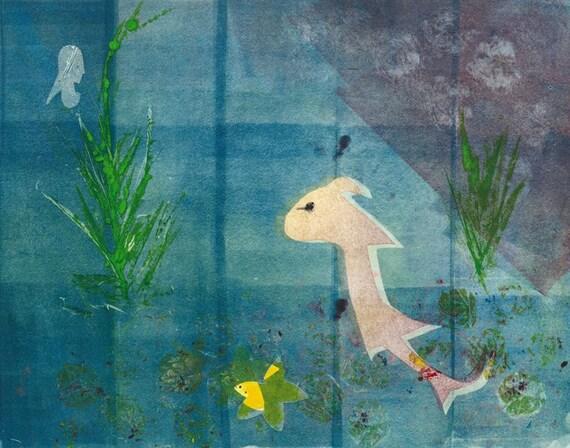 Blue Creature Under the Sea