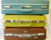 Vintage Luggage - American Tourister Tiara - Vintage Suitcase - Plaid Lining - Retro Luggage - Brown Hardcase -