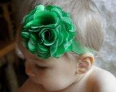 SALE Green Baby Headband - Baby Headband - Infant Headband - Kid's Green Headband - Children's St Patrick headband