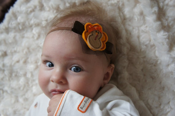 SALE Thanksgiving Baby Headband Turkey