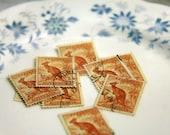 Vintage Collage Supplies Kangaroo 1940s Vintage Australian Stamps
