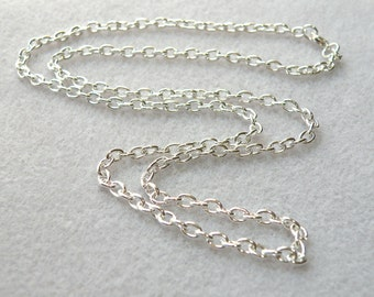 """1 Heavy cable 30 inch chain with lobster claw clasp 30"""" necklace 5x3.5mm links silver plated steel 1053CH"""