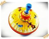Ohio art Tin Spinning Top with Animal Theme