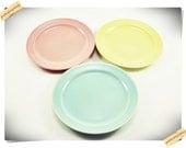 LuRay Pastel 6 1/2'' Plates (3)