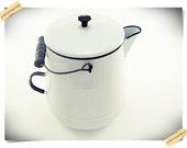 Enamel Coffee Pot with Wood Handle