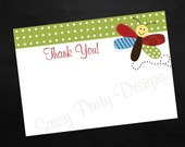 Dragonfly Thank You Notes Digital File INSTANT DOWNLOAD