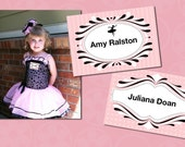 Twirling Ballerina Printable Name Tags or Labels INSTANT DOWNLOAD