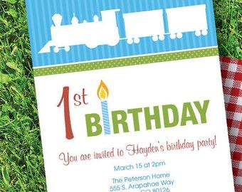 Birthday Express Train Custom Invitation
