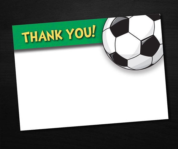 Thank You Notes - Soccer INSTANT DOWNLOAD Digital File