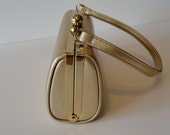 Small Gold Leather Vintage Handbag
