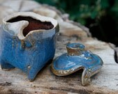 Mini Blue Jewelry box from Clay Creature Comforts
