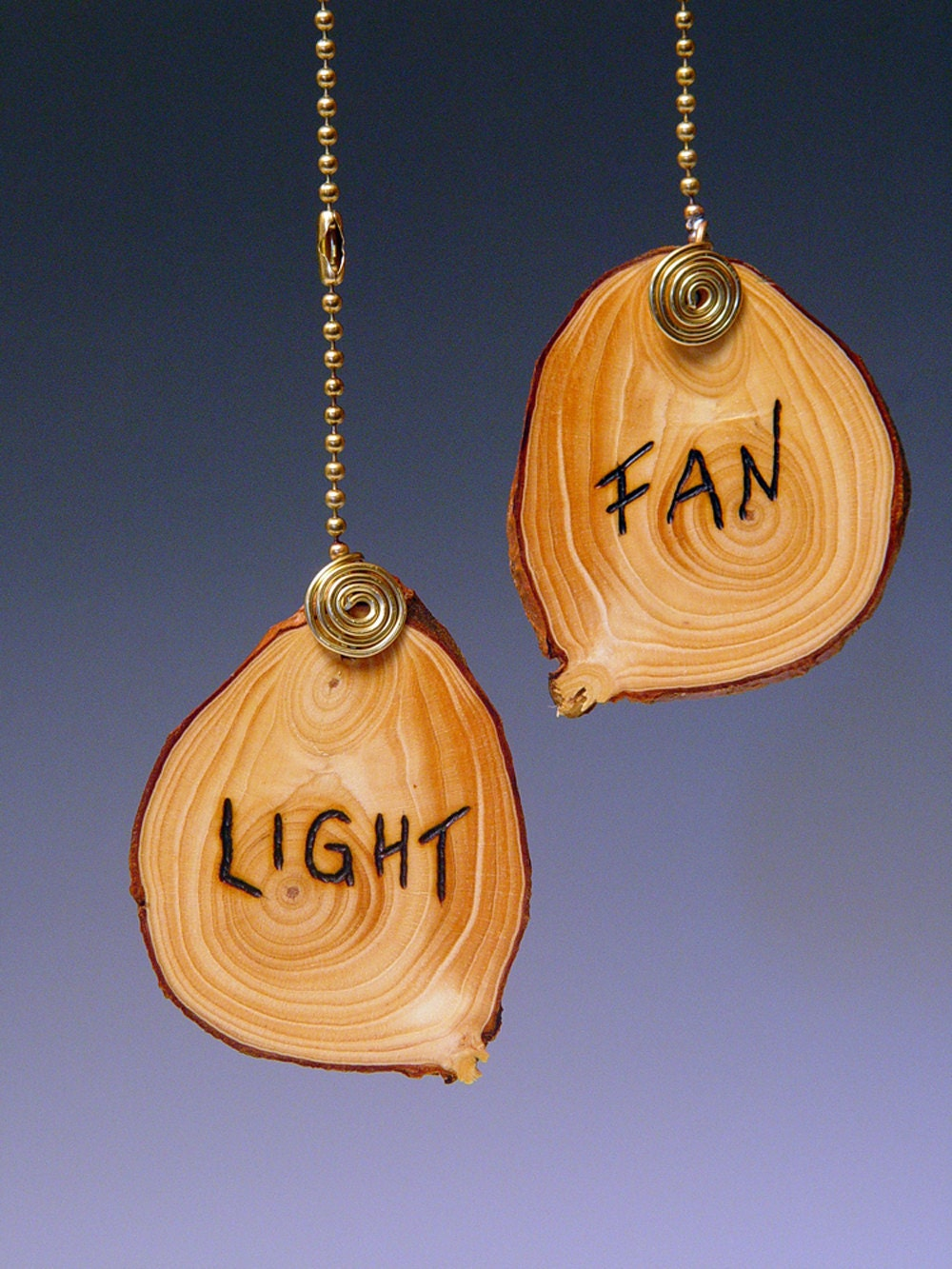 Ceiling Fan Pull Chain Lamp Pull Wooden Disc Etched With