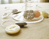Winter White Wine Charms - Vintage Buttons