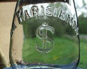 Antique FRENCH Chic Glass Oil / Gas LAMP SHADE with 'La Parisienne'