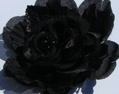 RESERVE FOR BW - Elegant Black Rose Hairclip