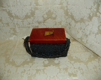 Great Bakelite and Bead Purse 1930-40  Item #246-AP