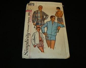 Simplicity Men's 6073 shorts/jacket size 40, waist 36,1950's