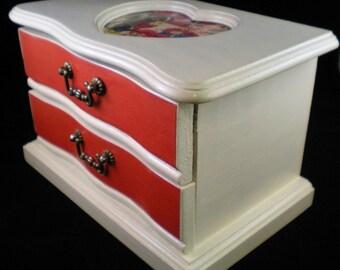 Vintage Valentines Upcycled Jewelry Box