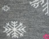 Grey Snow Flake Leg Warmers
