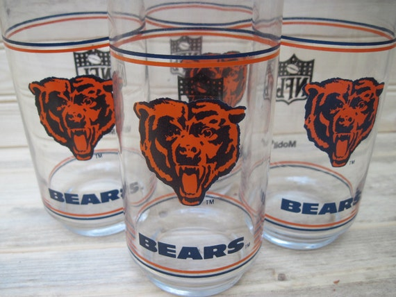 Chicago Bears drinking glasses, NFL ,bears
