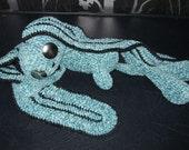 Velour Bunny Blue. easter sale