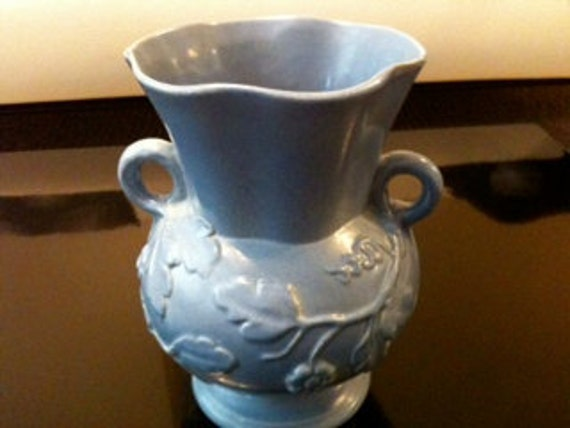 Rum Rill Vase Pottery light blue