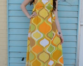 Handmade VINTAGE PRINT Hippie Boho Maxi Side Ties Sun DRESS S/M/L/Xl