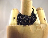 Asexual Black Chainmaille Ring (RESERVED)