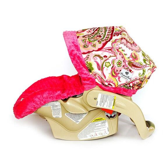 car seat cover pink paisley. Black Bedroom Furniture Sets. Home Design Ideas