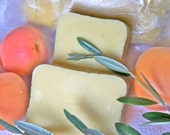 Shea Butter/Apricot Oil Soap (with Olive Oil), Great for Dry/Sensitive Skin - Vegan