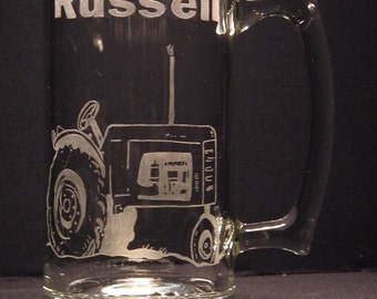 Personalized Farm Tractor Beer Mug