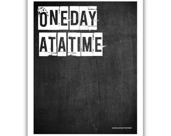 Typographic Print - TITLE One day at a time