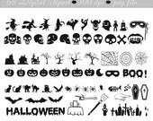 Digital ClipArt  - 68 Digital Halloween clipart  - 300 dpi - (set 94)