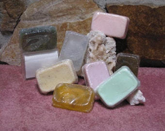 All Natural Handmade Soap, Handcrafted Soap, Handmade Glycerin Soap - Three Bar Variety Pack