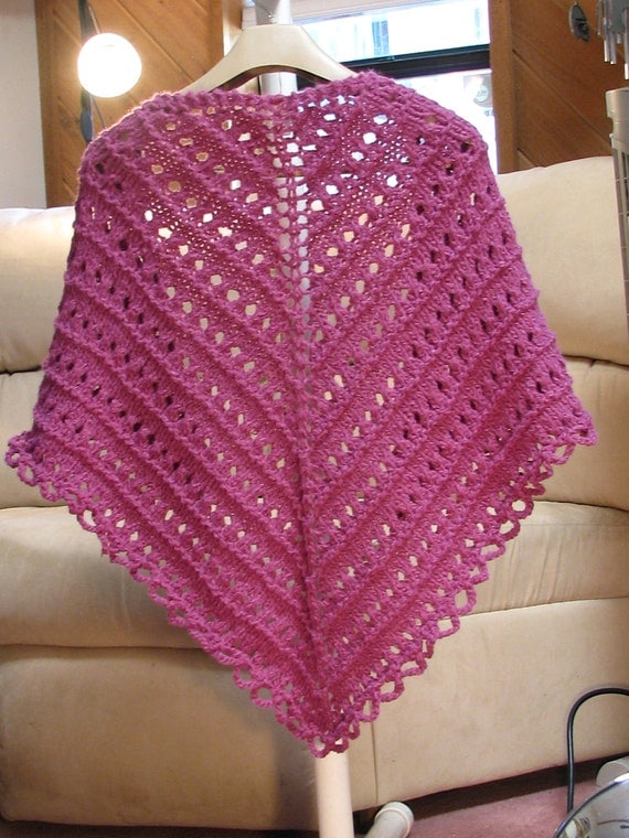 Lacy, Hand Knitted, Purple Shawl, Lacy Shawl, Lace Shawl, Hand Knitted Shawl, Purple Shawl, Evening Wrap, Prayer Shawl, Grandmother's Gift
