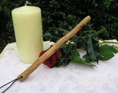 Mini Hawthorn Wooden Travel Wand - Hand carved and finished - OOAK