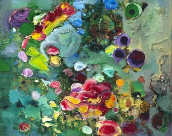 "Waterlilies Giclee Fine Art Print by Tracey Chikos 16"" x 20"""
