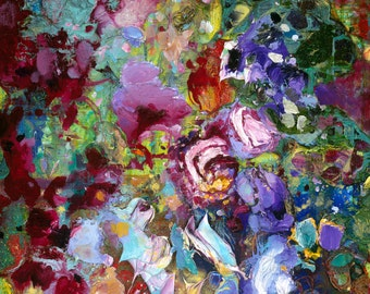 "Wildflowers Detail Giclee Fine Art Print by Tracey Chikos 11"" x 14"""