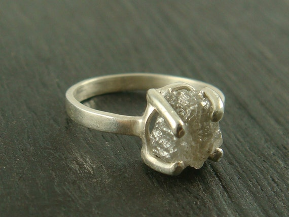 Rough Diamond Prong Set Ring