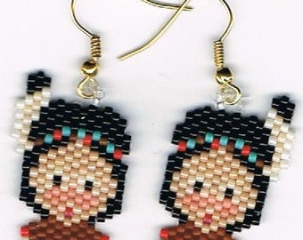 Hand Beaded Little Indian Boy earrings catalog  209
